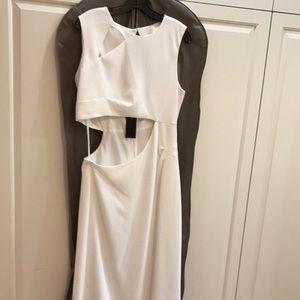BCBG Cutout White Gown
